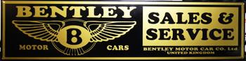 "Bentley Sales & Service Advertisement 46"" by 12"""