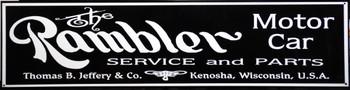 "Rambler Motor Car Advertisement 46"" by 12"""