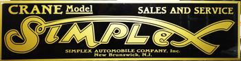 "Simplex Motor Car Advertisement 46"" by 12"""