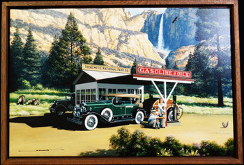 Yosemite Gas Station framed Lithograph by Stan Stokes
