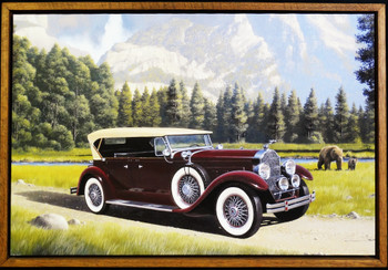 Vintage Packard / Countryside Framed Lithograph by Stan Stokes