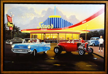 Stan's Diner / Fifties Classic Framed Lithograph by Stan Stokes