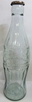 "Coca-Cola 20"" Christmas Bottle with Metal Cap December 25 1923 Circa 1930's"