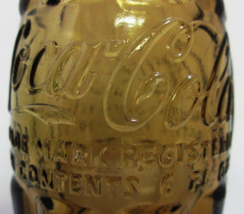 Coca-Cola 6 oz Amber Glass Bottle Pat D Circa 1949