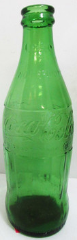 Coca-Cola Green Glass 12 ounce Bottle circa 1960