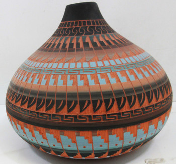 Native America Pottery Container Agnes Woods