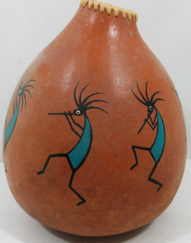 Native American Hand Painted Gourd Jeff Linton