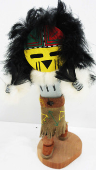 "Native American Hand Crafted Doll by V.M. TZ titled ""Sun Face"""