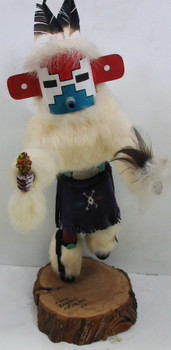 "Native American Large Hand Crafted Doll by Rosita titled ""Snow"""