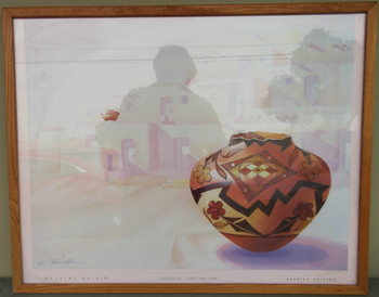"""Walking on Air"" Lithograph by Charles Collins Framed"