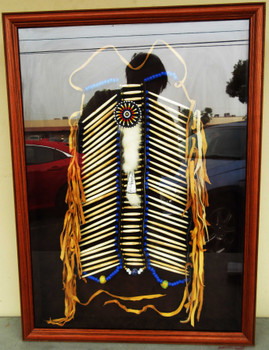 Native American Indian Breast Plate Shadow Box