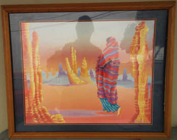 Framed Desert Lithograph by Charles Cottina # 240 of 300