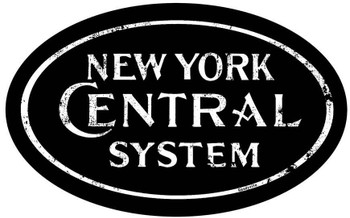 New York Central System Oval Rustic Metal Sign