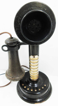 S.H. Couch Intercom Candlestick Telephone Circa 1900's Operational