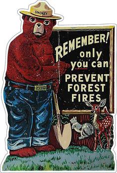 Smokey Bear Vintage Advertisement Plasma Cut Metal Sign
