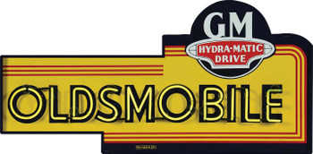 Oldsmobile Hydra-Matic Drive Neon Style Metal Sign