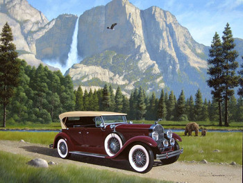 Yosemite Bears and the 1929 Packard Metal Sign by Stan Stokes