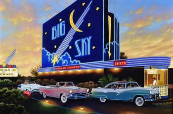 Blue Sky Drive in Classics Sign by Stan Stokes