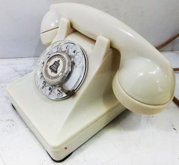 Western Electric White Model 302 Thermalite Telephone circa 1940's