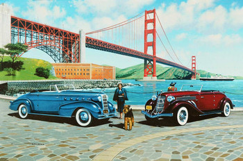 Golden Gate Classic Cars Metal Sign by Stan Stokes
