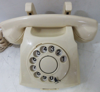 Norwegian Oslo Convertible Desk / Wall Telephone White Rotary Dial Circa 1940