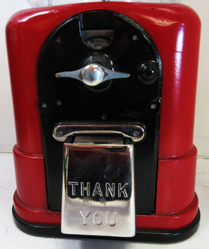 Topper Round Gum 1c Dispenser circa 1940's (black/red)