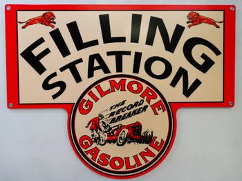 Gilmore Gasoline FILLING STATION Metal Sign
