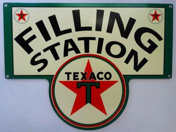 Texaco Gasoline FILLING STATION Metal Sign