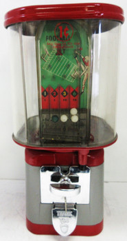 Oak Penny Skill Football Gumball Dispenser 1950's