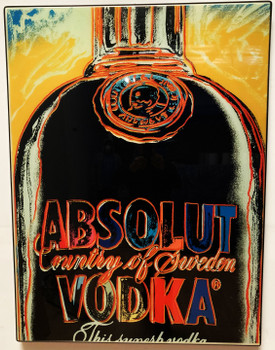 Andy Warhol Acrylic Art Absolute Vodka