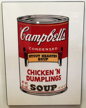 Andy Warhol Acrylic Art Campbell's Soup Can