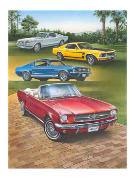 Mustang Collage by Dan Hatala