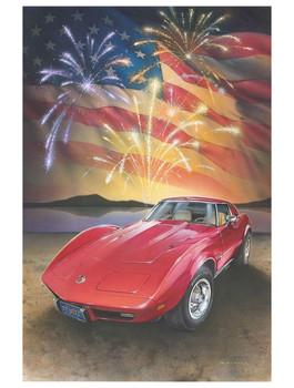 1976 Corvette the American Dream by Dan Hatala