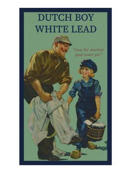 Dutch Boy White Lead Paint Metal Sign