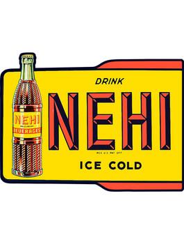 Drink Nehi Beverages Ice Cold Plasma Cut Metal Sign