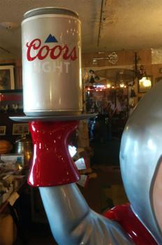 """Coors Light Beer Statue Advertising Fiberglass Statue 77"""" Tall"""