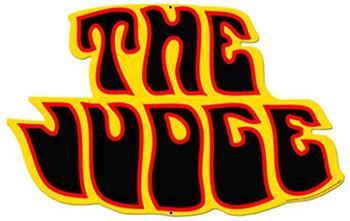 The Judge Pontiac Logo Plasma-Cut Metal Sign