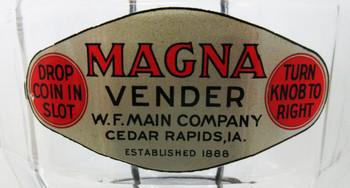 Magna Vender 1c Bulk Peanut / Candy Dispenser circa 1930's