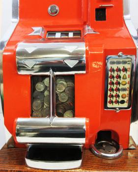 MILLS 10c QT Chevron Slot Machine circa 1936 fully restored
