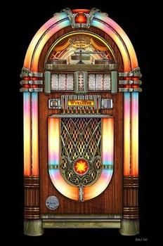 Jukebox Music Classic by Michael Fishel Metal Sign