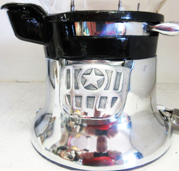"Columbus ""M"" 1c Peanut /Candy Dispenser Circa 1930's  Chrome Plated"
