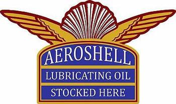 Aeroshell Shell Gasoline Lubricating Oil Plasma Cut Metal Sign
