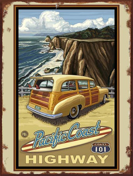 Pacific Coast Hwy 101 Metal Sign