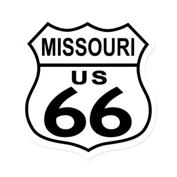 Missouri Route 66 Shield Metal Sign