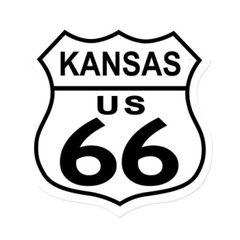 Kansas Route 66 Shield Metal Sign