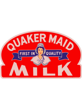Quaker Maid Milk Plasma Cut Metal Sign