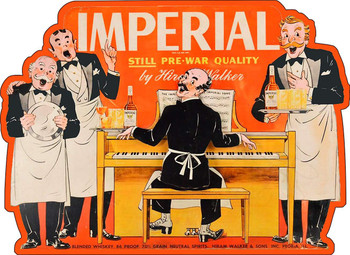 Imperial Whiskey Liquor Vintage Advertisement Inspired Metal Sign