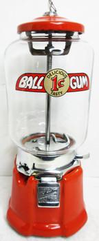 Northwestern Model 33 Gum Ball Circa 1930's Orange Porcelain #2