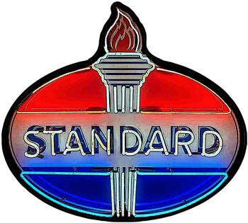 Standard Neon Stylized Plasma Cut Metal Sign