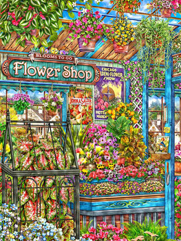Flower Shop Metal Sign by Michael Fishel